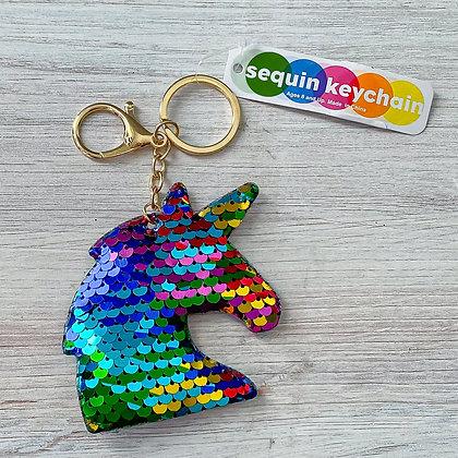 Unicorn Flip Sequin Keychain