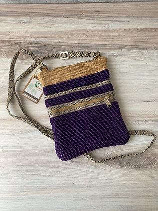 Violet Hipster Jute Sling Bag