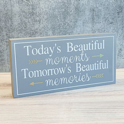 Box Sign - Today's Beautiful Moments