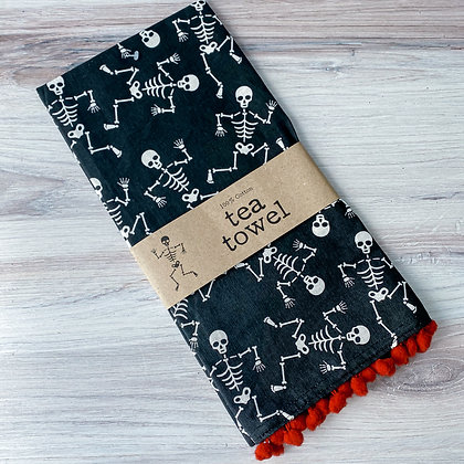 Dancing Skeletons Tea Towel