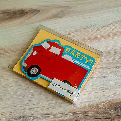 Firetruck Party Invitations