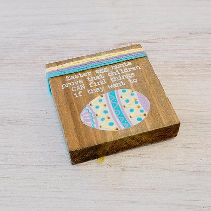 Easter Egg Hunt Stitched Block Magnet