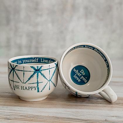 Shibori Be Happy Mug