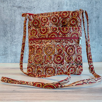 Red Circles Walker Bag