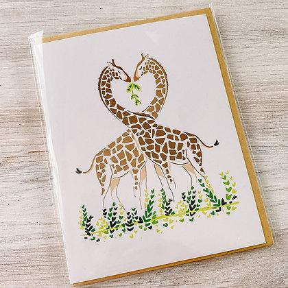 Giraffe Love Card