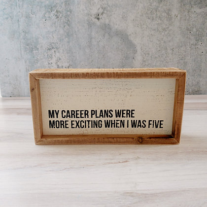 Inset Box Sign - My Career Plans