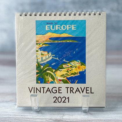 Vintage Travel Desk Calendar - 2021