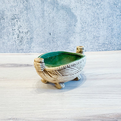 Rush Boat Planter by McCoy Pottery