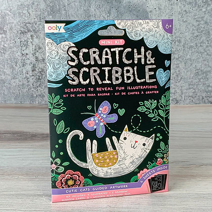 Cutie Cats Scratch & Scribble Art Kit