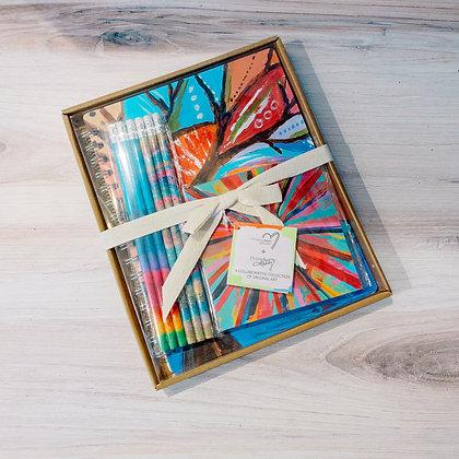 Rainbow Stationary Set