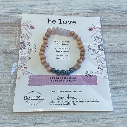 "Rose Quartz ""Be Love"" Bracelet"