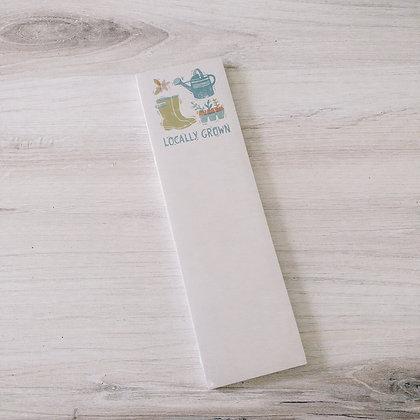 List Notepad - Locally Grown