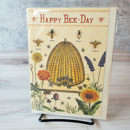 Happy Birthday Card with Bee Hive