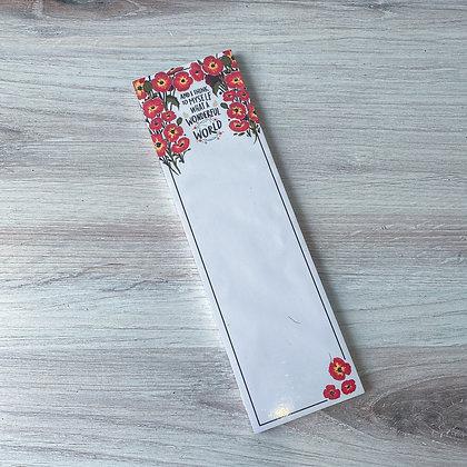 Wonderful World Notepad