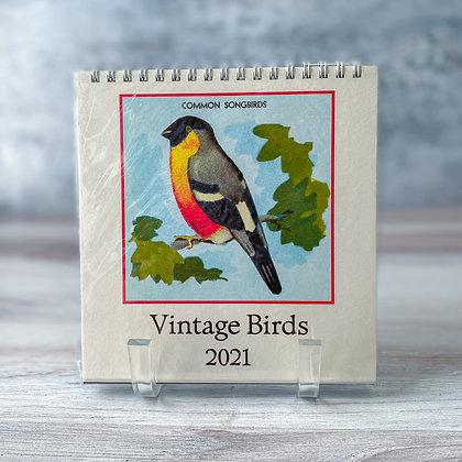 Vintage Birds Desk Calendar - 2021