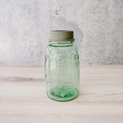 Midget Pint Mason Jar with Flower Frog Lid