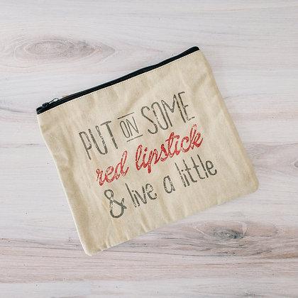 """Red Lipstick"" Travel Bag"