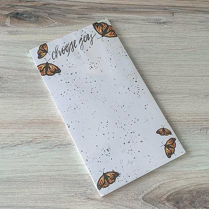Choose Joy Butterfly Notepad