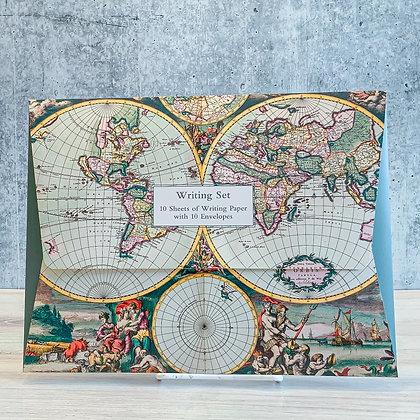 Four Hemisphere World Map Writing Set