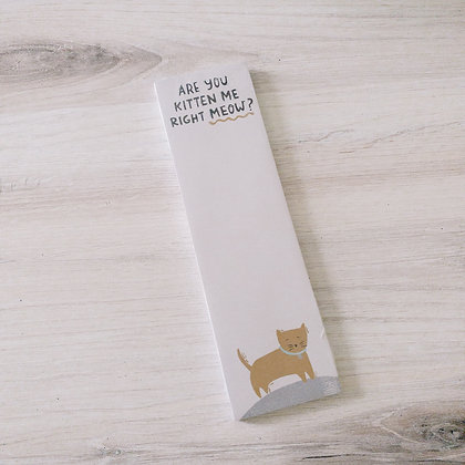 List Notepad - Kitten Me