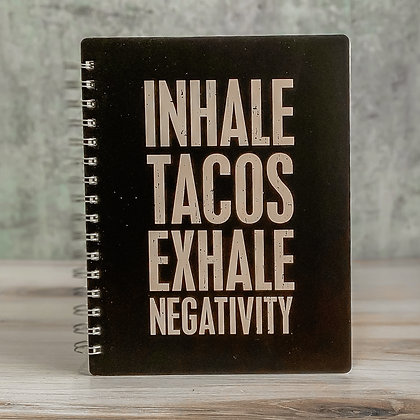 Spiral Notebook - Inhale Tacos