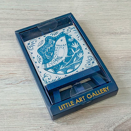Mini Easel with Bird Art