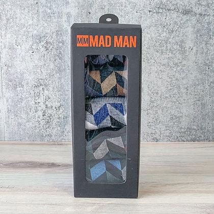 Herringbone Men's Socks - 5 Boxed Pair