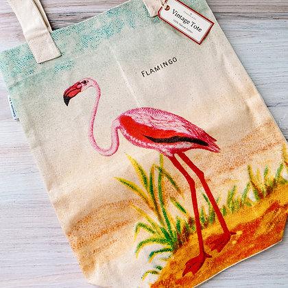 Flamingo Vintage Tote Bag
