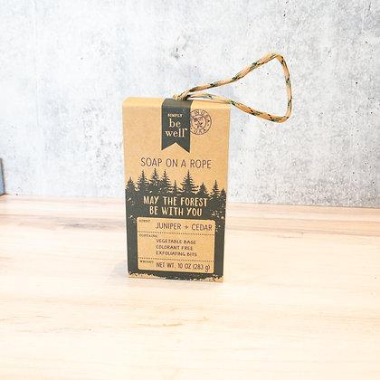 Juniper & Cedar Soap on a Rope