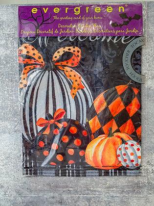 Elegant Patterned Pumpkin Flag