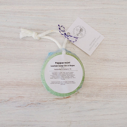 Lofah Soap on a Rope - Peppermint