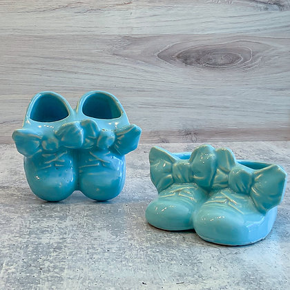 Vintage McCoy Pottery Baby Shoe Planter