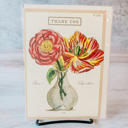 Thank You Card with Rose & Tulip