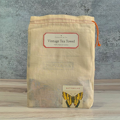 Butterflies Vintage Tea Towel