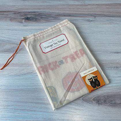 Halloween Vintage Tea Towel