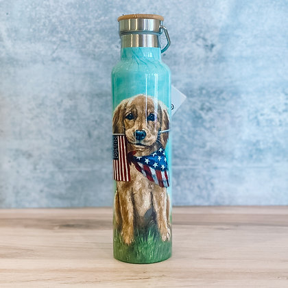 Puppy Flags Insulated Bottle