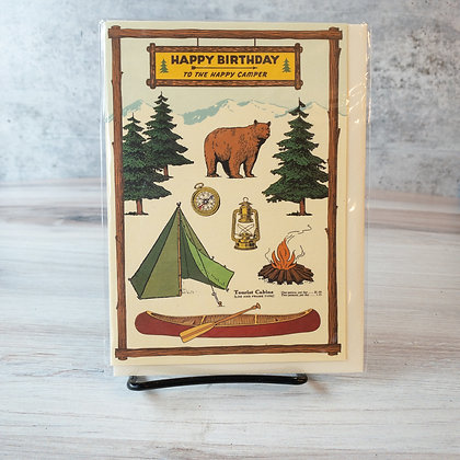 Camping Happy Birthday Card