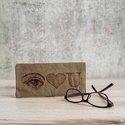 I Luv You Eye Glass Case
