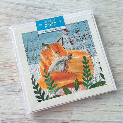"""""""Cosy Fox"""" Christmas Card Pack"""