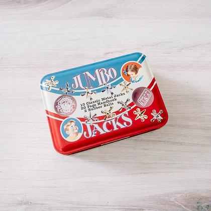 Jumbo Jacks in a Classic Toy Tin