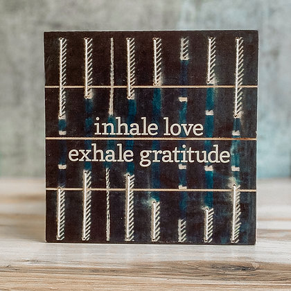 Shibori Slat String Art Sign