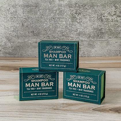 Shampoo Man Bar - Tea Tree + Mint