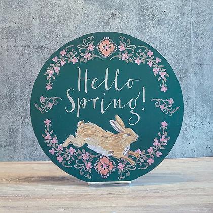 Hello Spring Wall Decor with Bunny