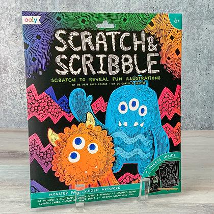 Monster Pals Scribble & Scratch Art Kit