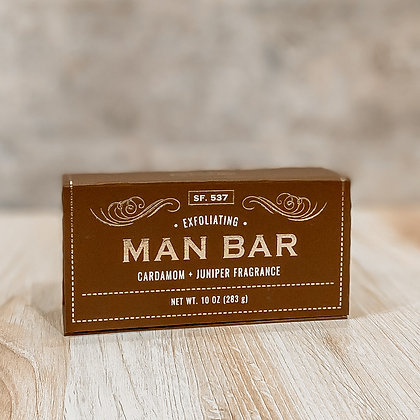 Exfoliating Man Bar - Cardamon & Juniper
