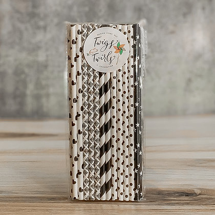 Paper Straws - Assorted Colors