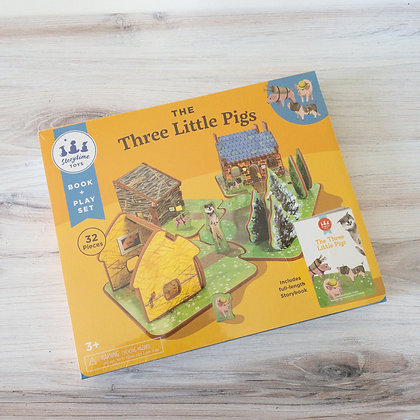 The Three Little Pigs Book & Playset