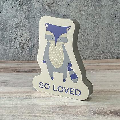 Chunky Raccoon Sitter - So Loved