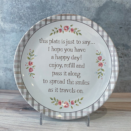 Happy Day Blessing Plate