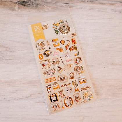 Keep Calm & Love Cats Stickers
